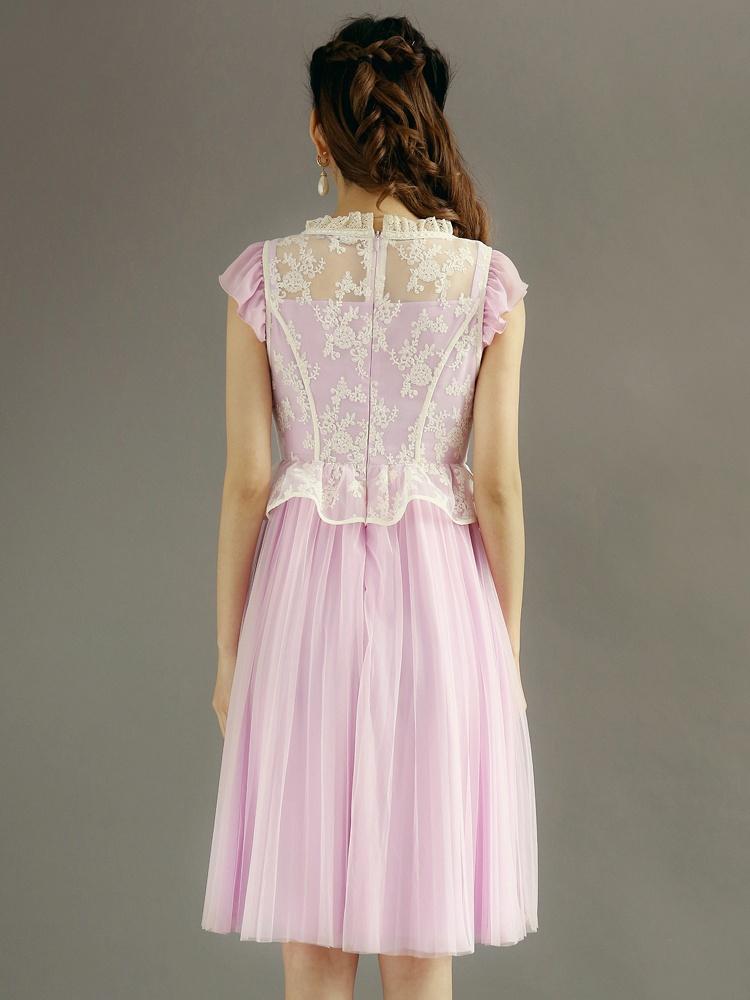 欧式复古 女装中长款连衣裙