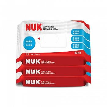 德国•NUK超厚特柔婴儿湿巾80抽装(3连包)