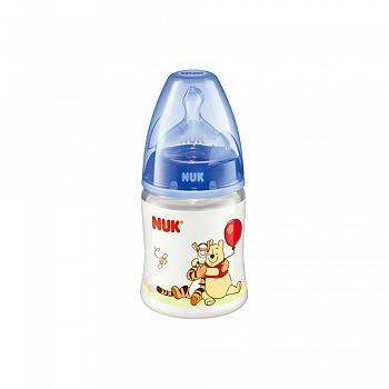 德国•NUK 150ml宽口PP彩色迪士尼维尼奶瓶(带初生型硅胶中圆孔奶嘴)