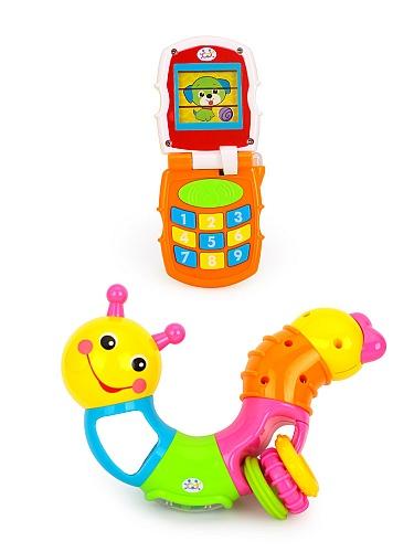 汇乐玩具可爱小虫子音乐手机组合