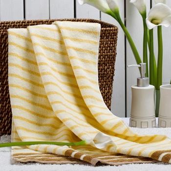 中国•荻嘉茂 全棉单条装浴巾 黄/蓝/绿