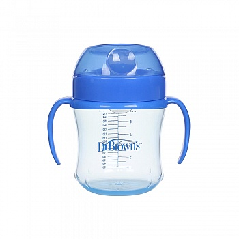 美国?布朗博士软吸嘴训练杯TC61001 6oz/180ml(适合6个月以上宝宝使用)