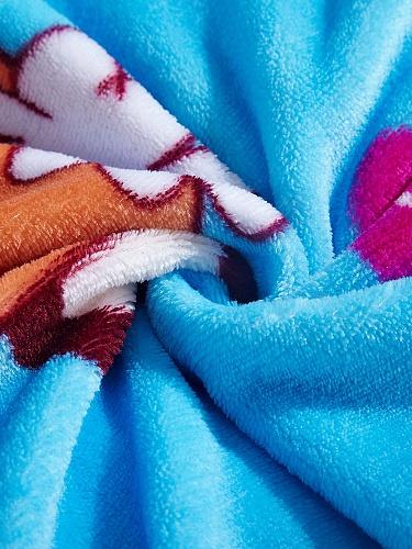 蓝色毛毯矢量图