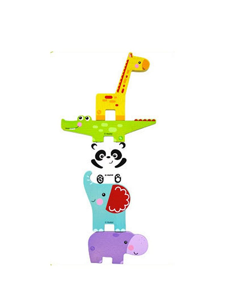 小动物平衡积木 儿童早教木制玩具