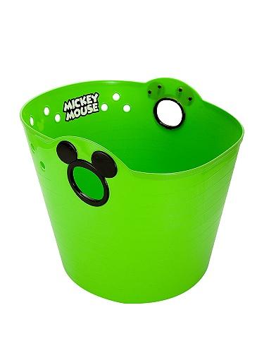 原装日本进口 米奇塑料桶绿色