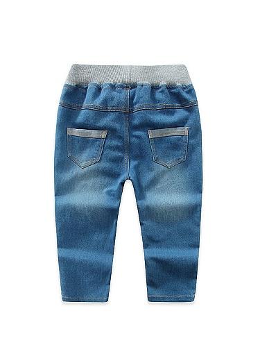 lolilu刺绣动物长颈鹿牛仔裤深蓝