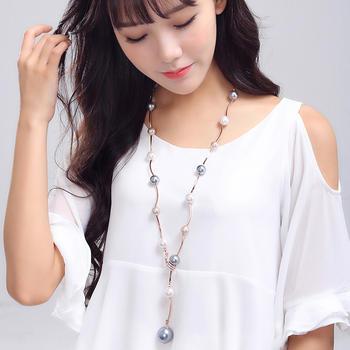 卡洛美 韩版时尚仿珍珠挂饰项链
