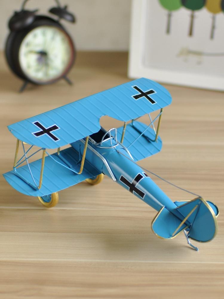 飞机模型摆件铁皮复古家居客厅