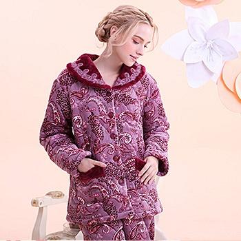 中国•夹棉睡衣家居服套装