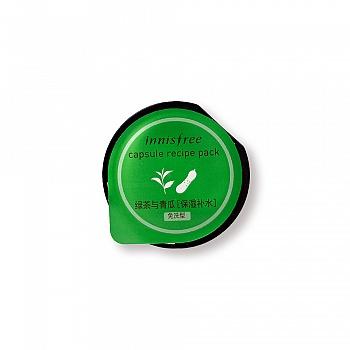韩国•悦诗风吟迷你修护面膜-绿茶与青瓜[保湿补水] 10ml