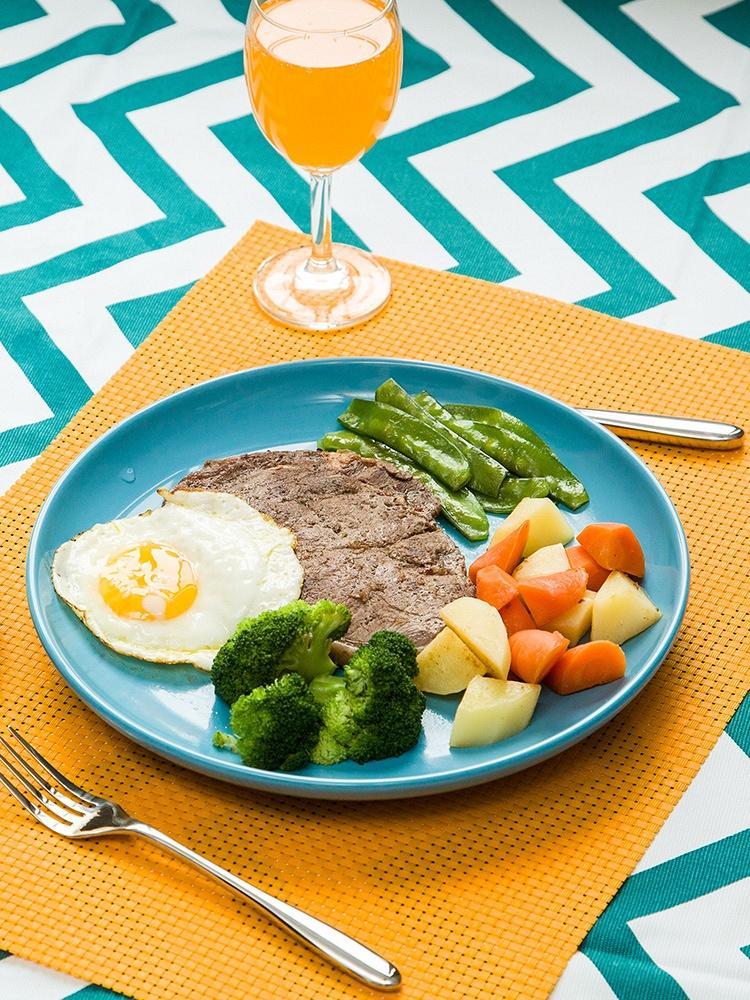 陶瓷盘子糖果色彩色盘子创意西餐盘牛排盘