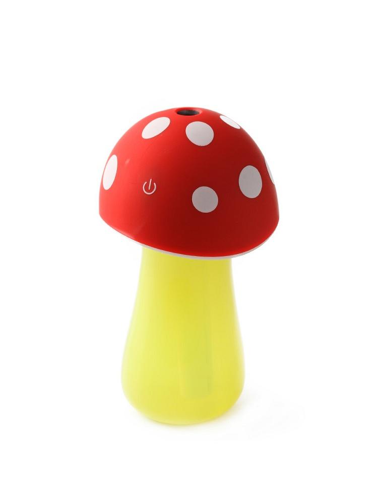 homee可爱蘑菇usb小夜灯加湿器-红色