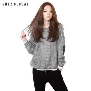 韩版SZ镂空宽松毛衣女针织打底衫