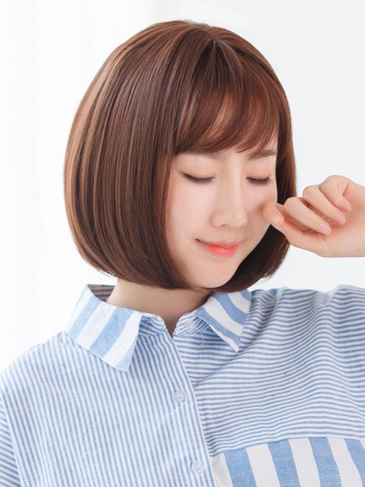 桃厘丝 韩系时尚空气刘海bobo头短发