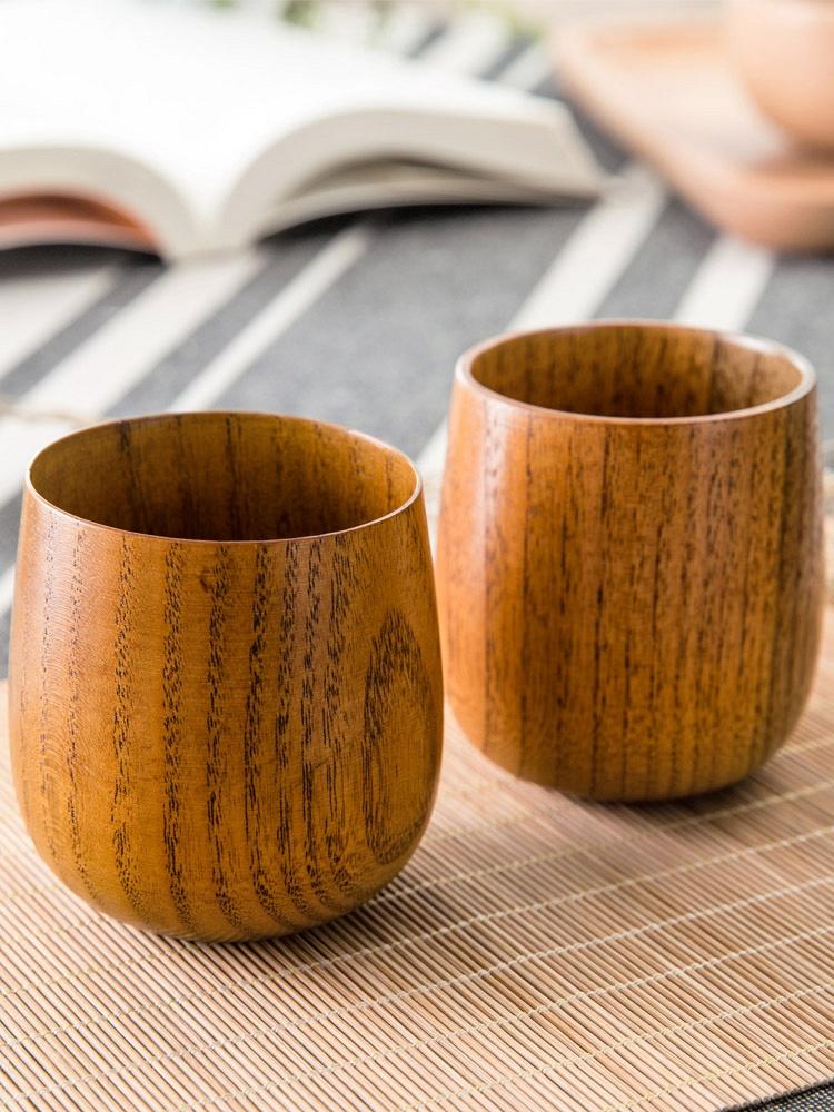 环保枣木茶杯清酒 杯子木杯3