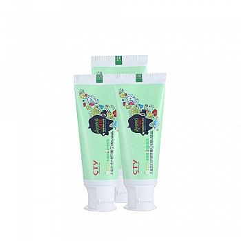 美国•海绵宝宝 (SpongeBob)儿童防蛀护龈牙膏(苹果味)50g*3支