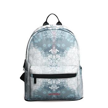 中国•时尚简约印花书包休闲旅行背包