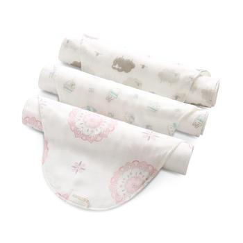 中国•澳斯贝贝婴儿纱布吸汗巾3条装
