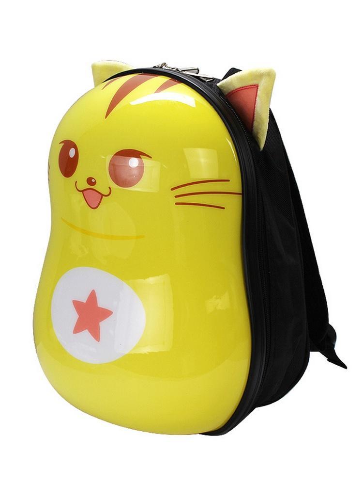 爱亲亲卡通可爱蛋壳硬壳星猫书包