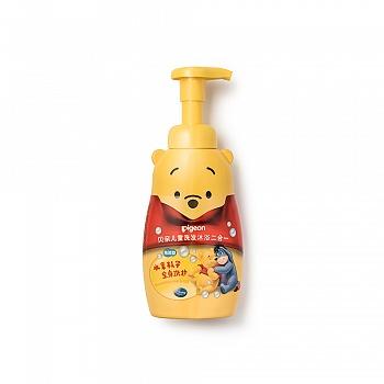 贝亲-儿童洗发沐浴2合1(泡沫型)350ml IA82