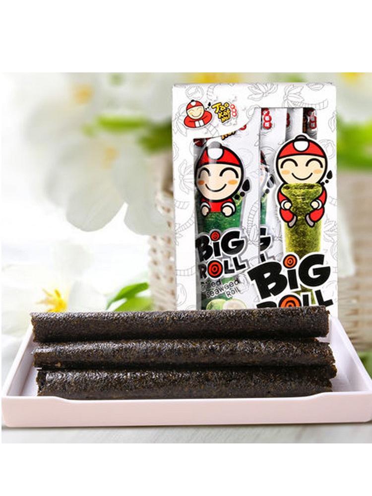 泰国进口 小老板海苔椰香味紫菜烤海苔卷36g*2盒