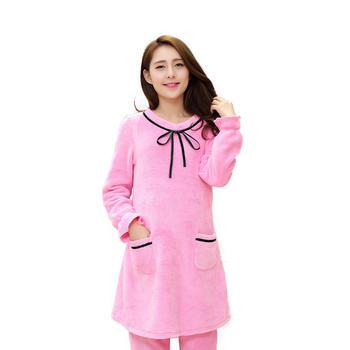 天喜孕妇套装珊瑚绒睡衣