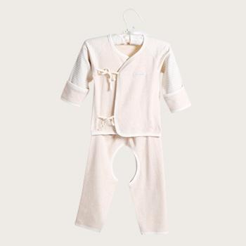 中国•澳斯贝贝 婴儿彩棉和尚服套装