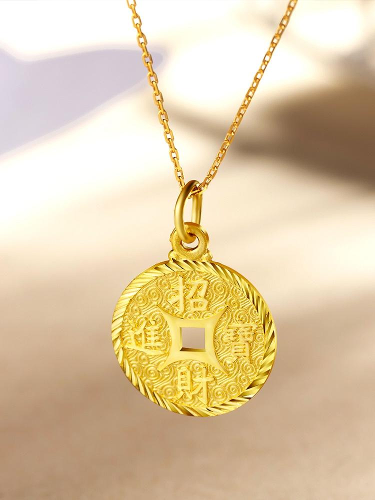 铜钱编织项链图片