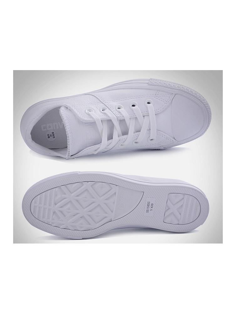 匡威女白色低帮硫化鞋