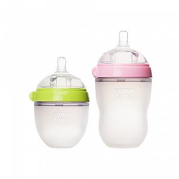 韩国•comotomo可么多么硅胶奶瓶大小套装 250ml+150ml (颜色随机)