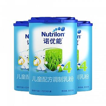 荷兰?Nutrilon诺优能儿童配方调制乳粉(36-72个月龄,4段)800g**3
