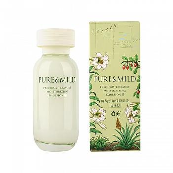 日本•泊美(PURE&MILD)鲜纯珍萃保湿乳液II(滋润型)120ml