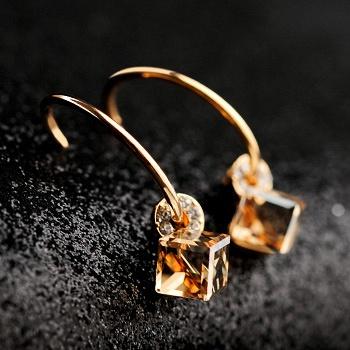 中国•Mbox施华洛水晶耳钉馨香耳环