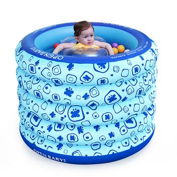 欧培婴儿充气游泳池 圆形豪华版
