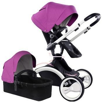 babysing360°系列旋转推车白车架 紫