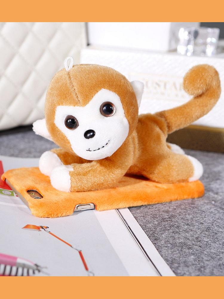 可爱猴子iphone毛绒手机保护壳