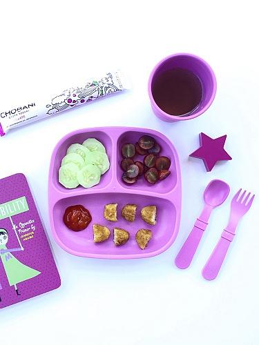 欧式紫色心形餐具图片