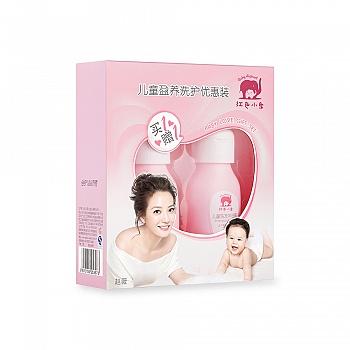 中国•红色小象儿童盈养洗护优惠装 儿童盈养乳99ml+儿童洗发沐浴露99ml