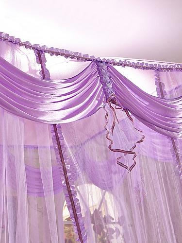 欧式紫色窗帘效果图大全2015图片