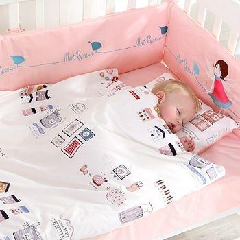 龙之涵 婴儿纯棉床品九件套