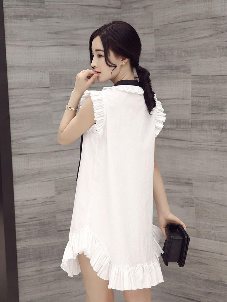 花边公主裙不规则连衣裙