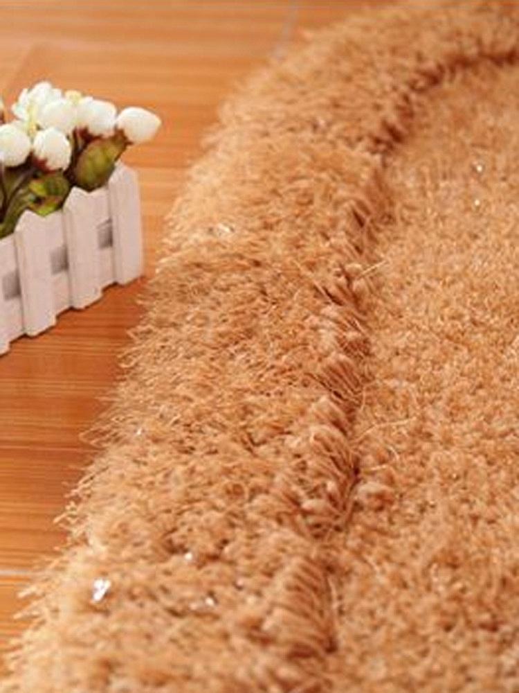 京华欧式婚庆椭圆形弹力丝床边地毯