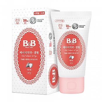 韩国?保宁(B&B)婴儿牙膏2阶段(凝胶型-草莓香)