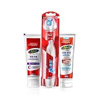 高露洁(Colgate)360牙膏 - 卓效护龈美白90g+360牙膏 - 卓效护龈90g+360光感白电动牙刷