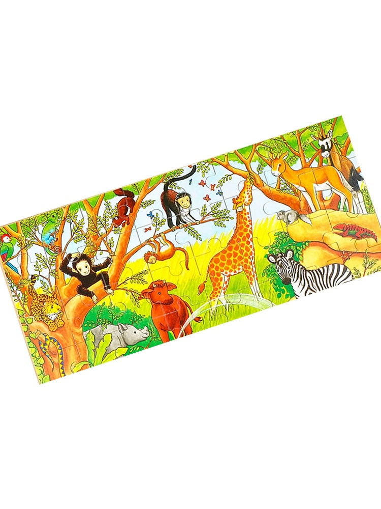 goki德国木质拼图48片非洲动物