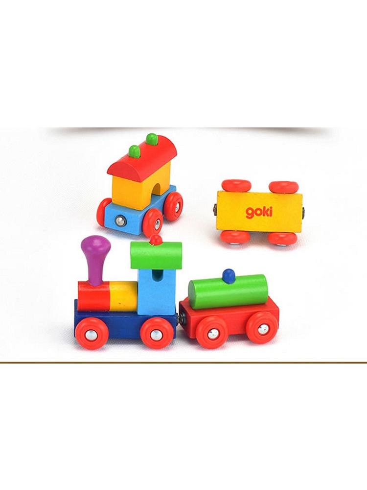 goki德国木质玩具小火车