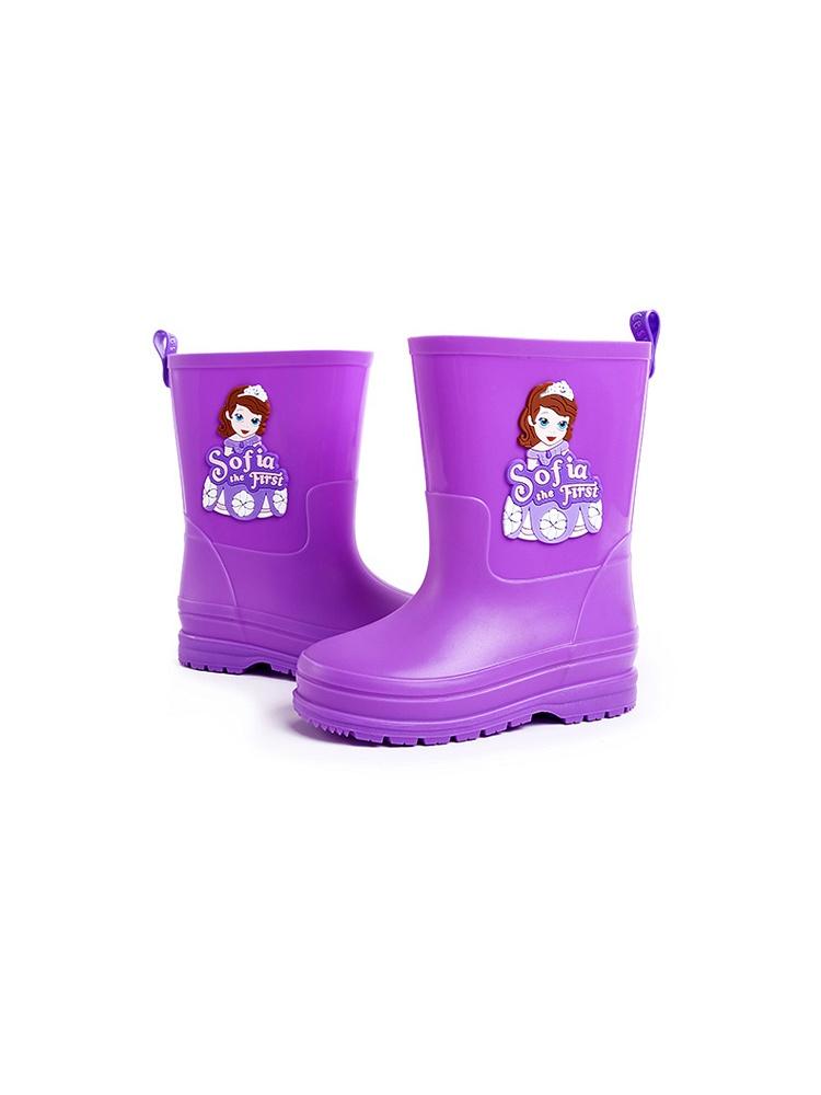 迪士尼时尚防滑苏菲亚公主水鞋女