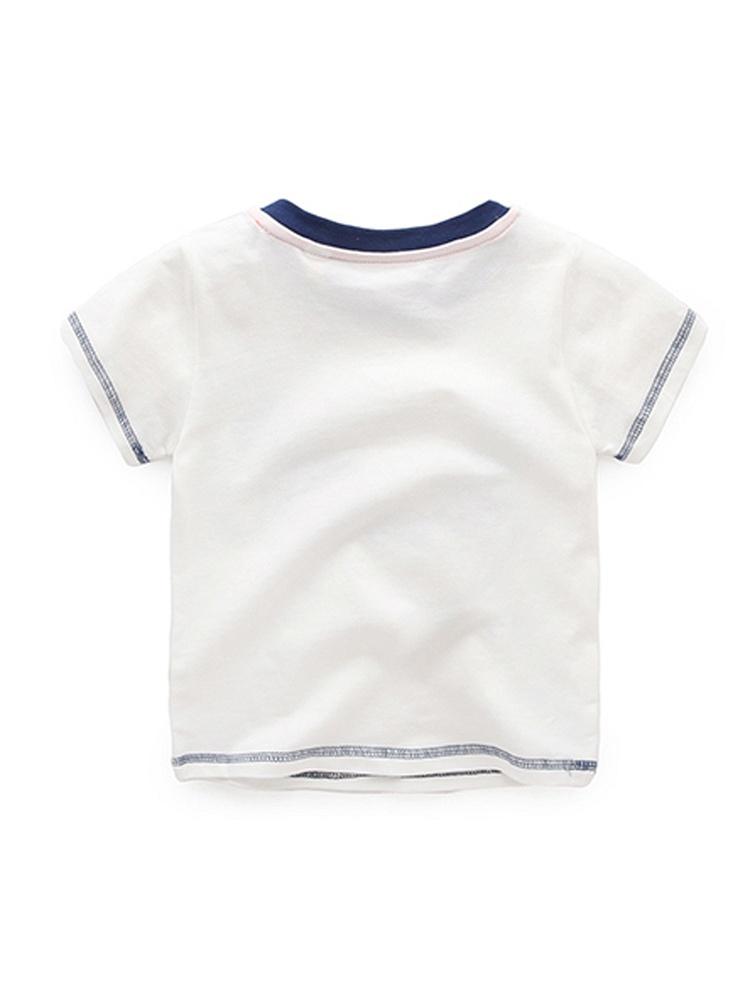 k宝宝卡通白色熊猫t恤,柔软的面料设计,精致的走线是这款衣衣的特色