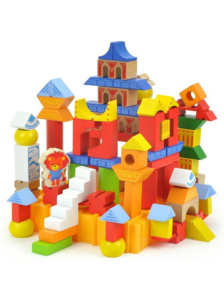特宝儿中国古代建筑积木拼搭玩具