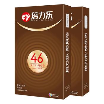 倍力乐避孕套安全套全尺寸小号46mm10只*2成人用品